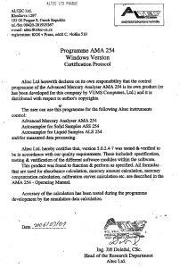Certificat logiciel Altec