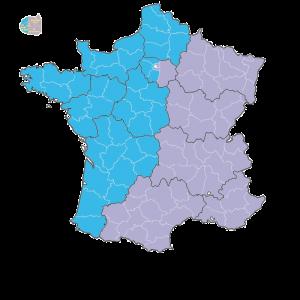 Symalab - Découpage secteur par départements et régions
